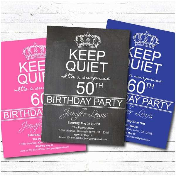 Surprise 50th Birthday Party Invitations Surprise 50th Birthday Party Invitations