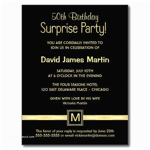 Surprise 50th Birthday Party Invitations Surprise 50th Birthday Party Invitations Wording