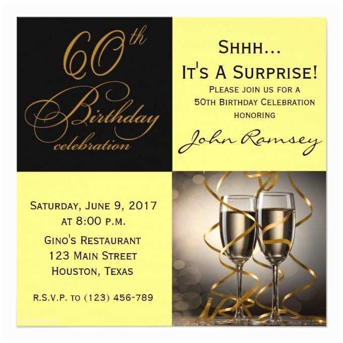 Surprise 60th Birthday Invitations 1404 Best 60th Birthday Invitations Images On Pinterest
