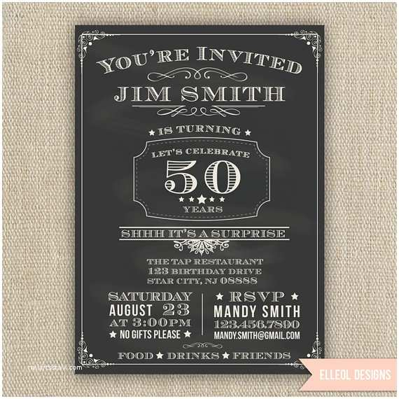 Surprise 60th Birthday Invitations 21st 30th 40th 50th 60th Surprise Birthday Party by Elleol