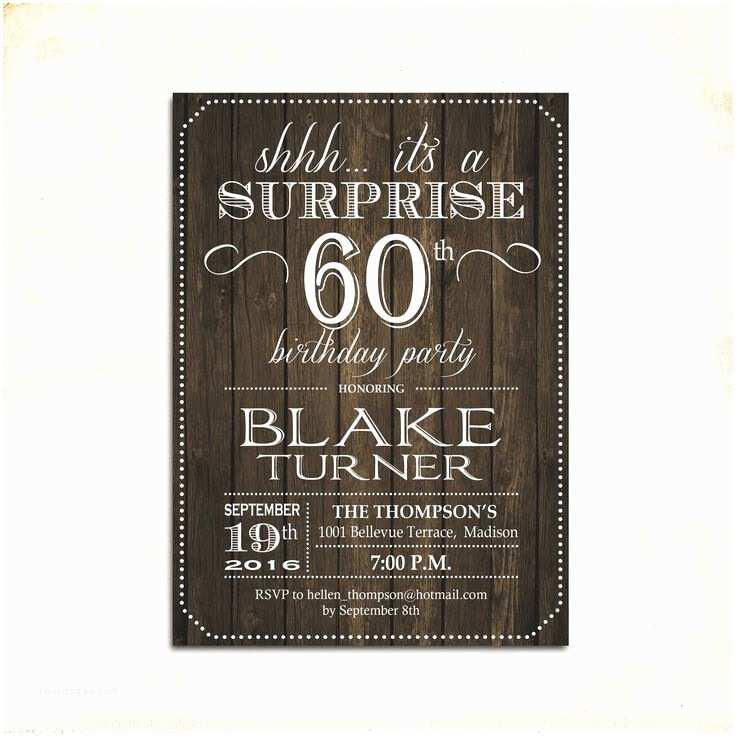 Surprise 60th Birthday Invitations 25 Best Ideas About Surprise Birthday Invitations