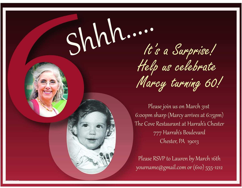 Surprise 60th Birthday Invitations 60th Birthday Invitation