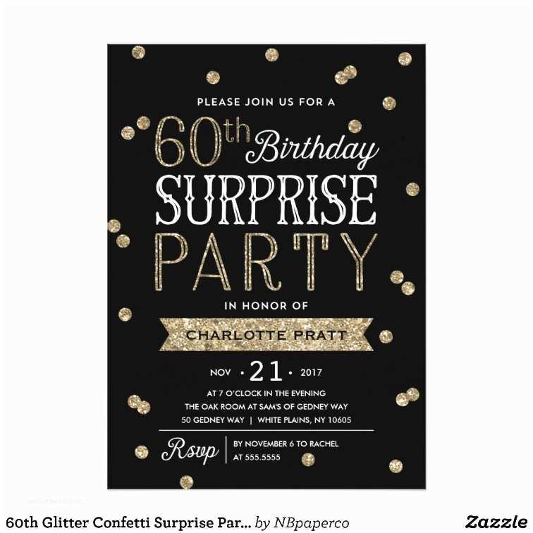 Surprise 60th Birthday S 60th Glitter Confetti Surprise Party