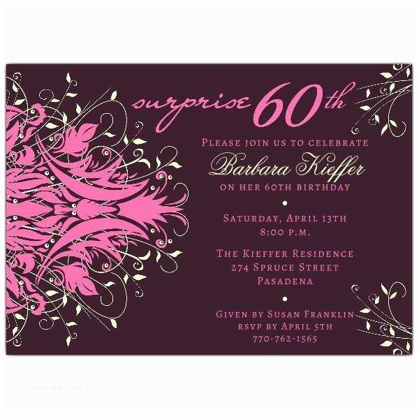 Surprise 60th Birthday  Andromeda Pink Surprise 60th Birthday