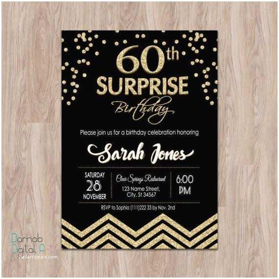 Surprise 60th Birthday Invitations Best 20 Surprise Birthday Invitations Ideas On