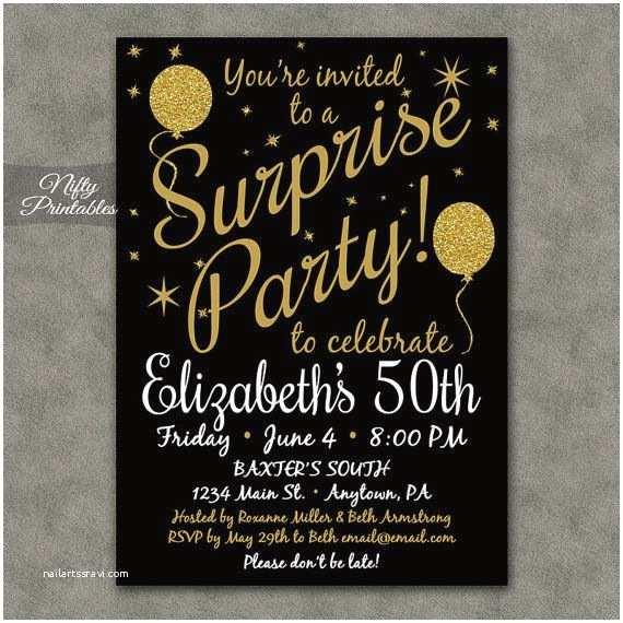Surprise 60th Birthday Invitations Best 25 Surprise Birthday Invitations Ideas On