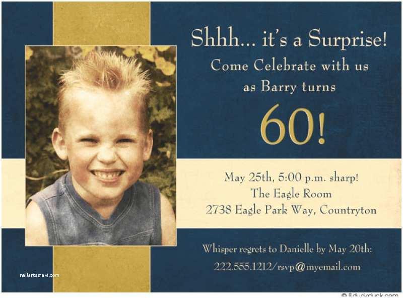 Surprise 60th Birthday Invitations Free 60 Surprise Birthday Invitation Template