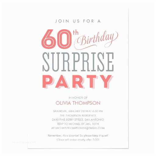 Surprise 60th Birthday Invitations General Birthday Invitation Archives Superdazzle