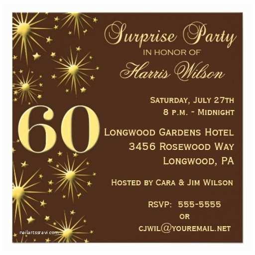 "Surprise 60th Birthday Invitations Sparkling Surprise 60th Birthday Invitations 5 25"" Square"
