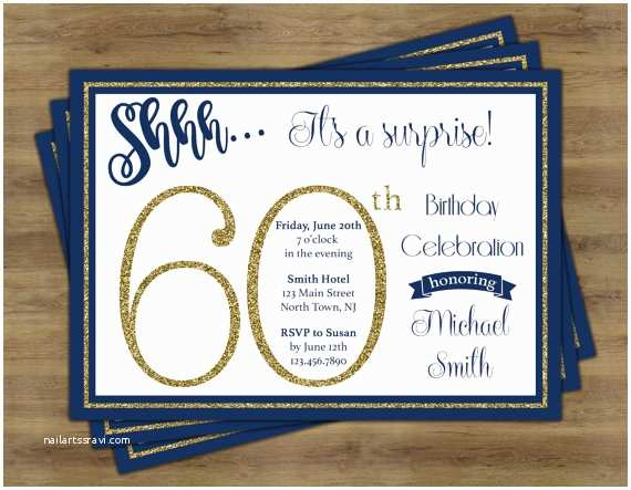 Surprise 60th  Invitations Surprise 60th  Invitation Surprise