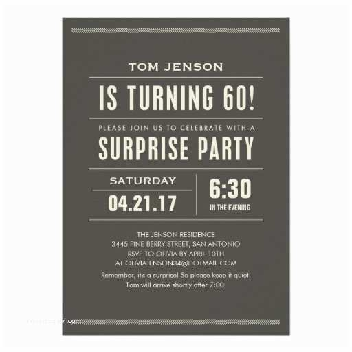 Surprise 60th Birthday Invitations Surprise 60th Birthday Invitations 13 Cm X 18 Cm