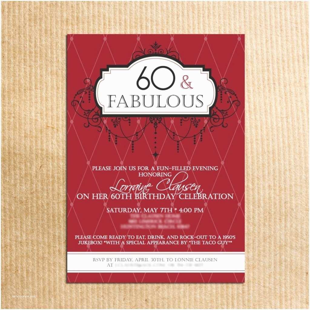 Surprise 60th Birthday Invitations Surprise 60th Birthday Invitations –