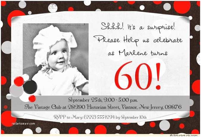 Surprise 60th Birthday Invitations Surprise 60th Birthday Party Ideas
