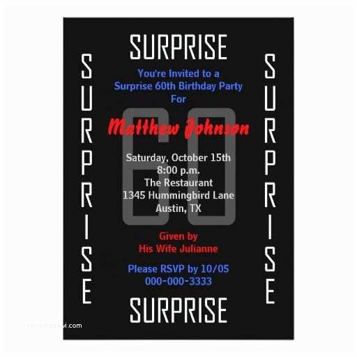Surprise 60th Birthday Invitations Surprise 60th Birthday Party Invitation 60