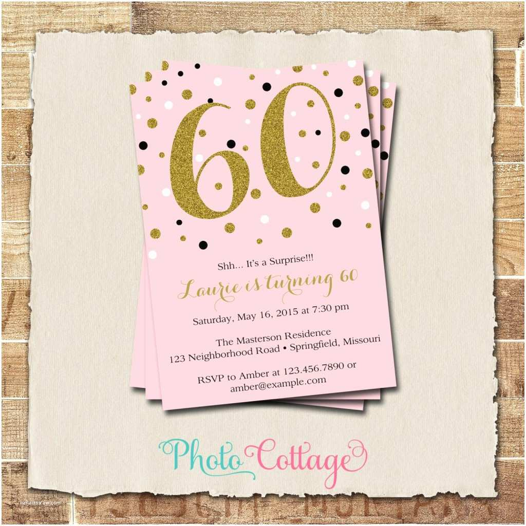 Surprise 60th Birthday Invitations Party Invitation Wording