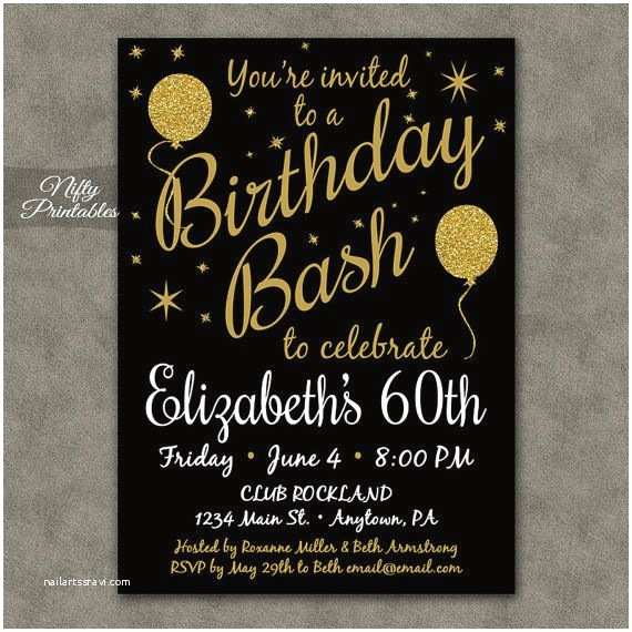 Surprise 60th Birthday Party Invitations 17 Best Ideas About 60th Birthday Invitations On