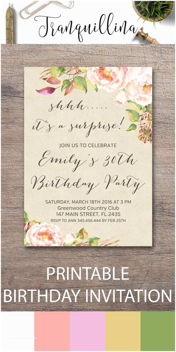 Surprise 60th Birthday Party Invitations 25 Best Ideas About On