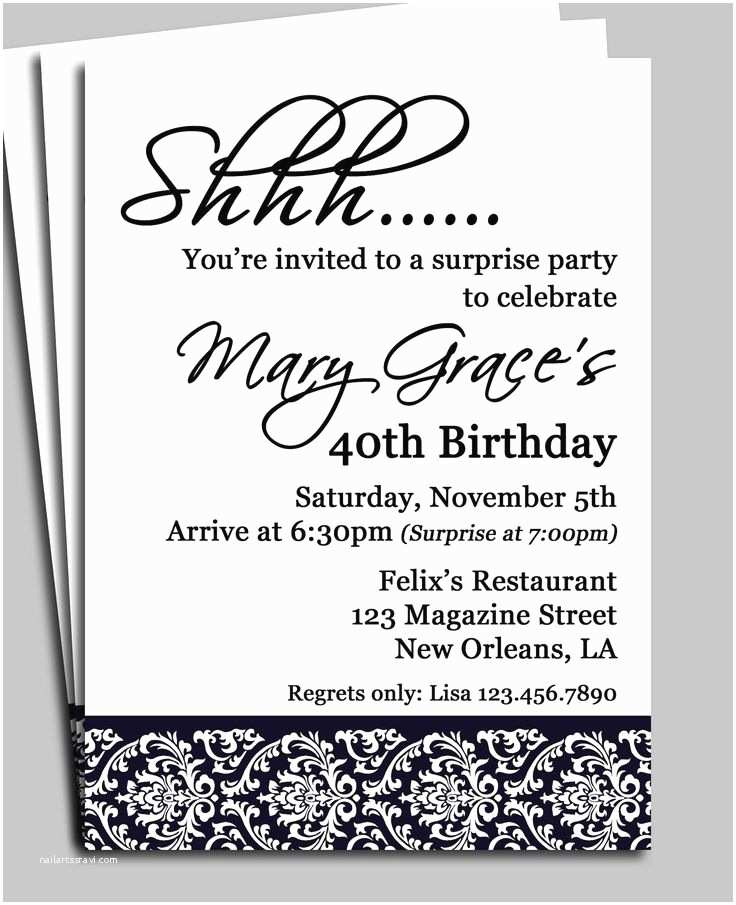 Surprise 60th Birthday Party Invitations 25 Best Ideas About Surprise Birthday Invitations