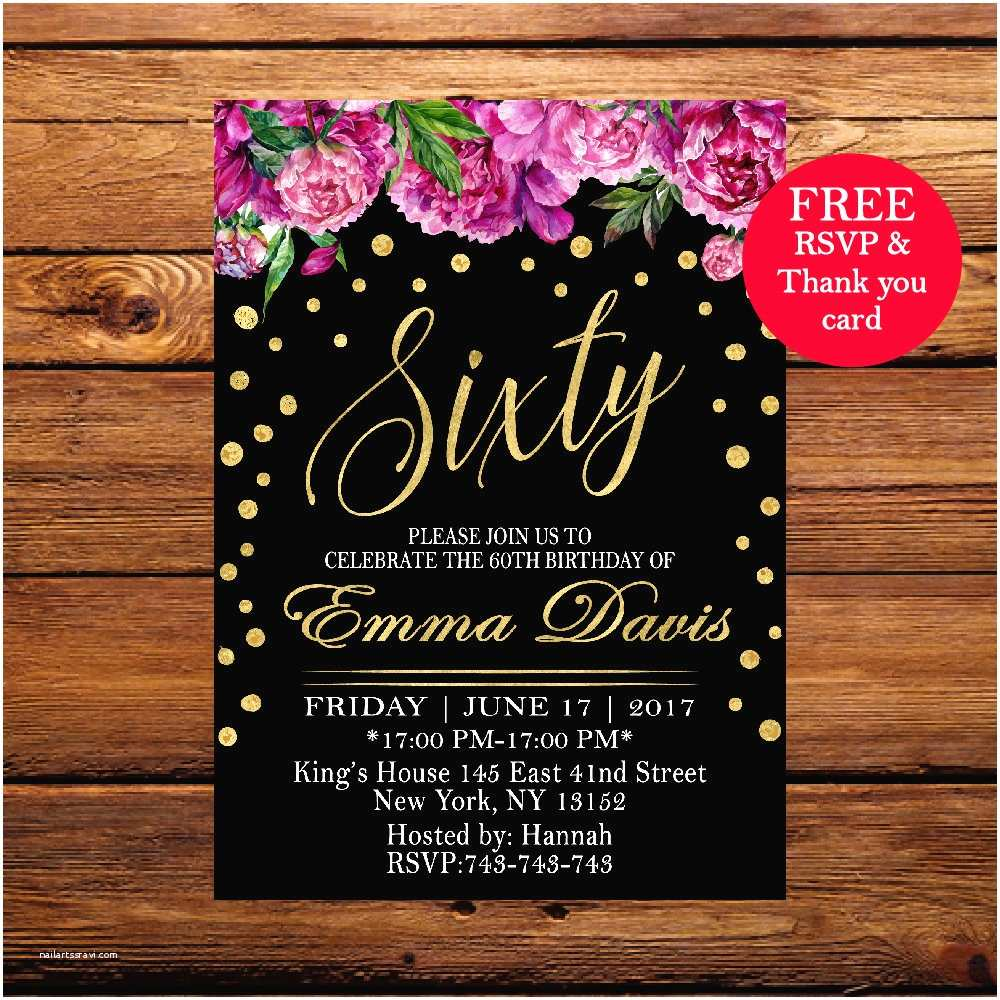 Surprise 60th Birthday Party Invitations 60th Birthday Invitation Surprise Birthday Party Invitation