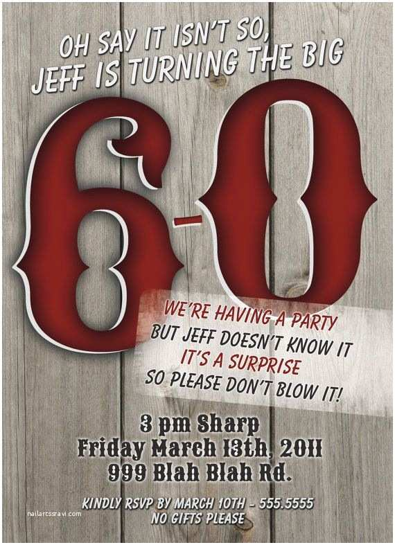 Surprise 60th Birthday Party Invitations 60th Birthday Surprise Party Invitations Masculine