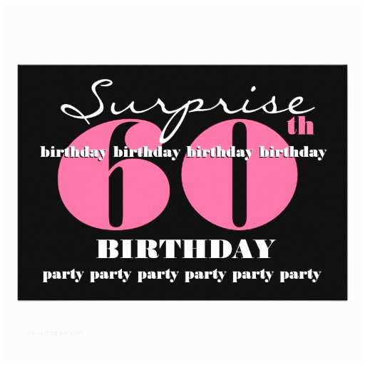 """Surprise 60th Birthday Party Invitations 60th Surprise Birthday Party Invitation Template 5"""" X"""