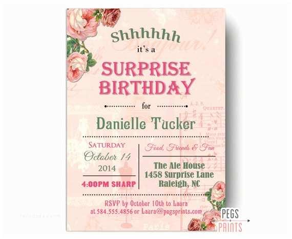 60th Birthday Party Invitations Shabby Chic  Party Invitation Printable