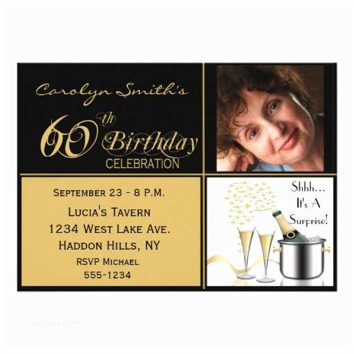 Surprise 60th Birthday Party Invitations Surprise 60th Birthday Party Invitations