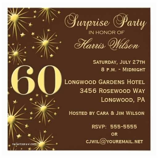 Surprise 60th Birthday Party Invitations Surprise 60th Birthday Party Invitations Wording
