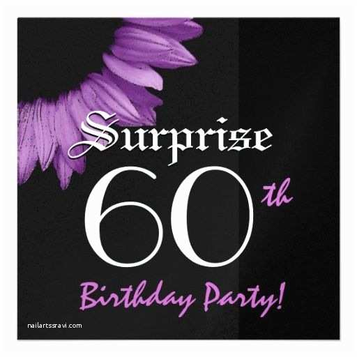 Surprise 60th Birthday Party Invitations Surprise 60th Birthday Party Purple