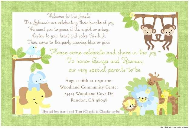 Surprise Baby Shower Invitation Jungle Adventure Shower Invitation Safari Animals Gender