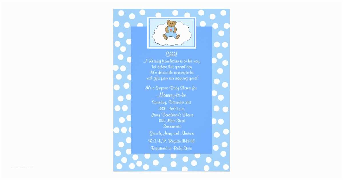 Surprise Baby Shower Invitation Surprise Baby Shower Invitation Teddy Bear