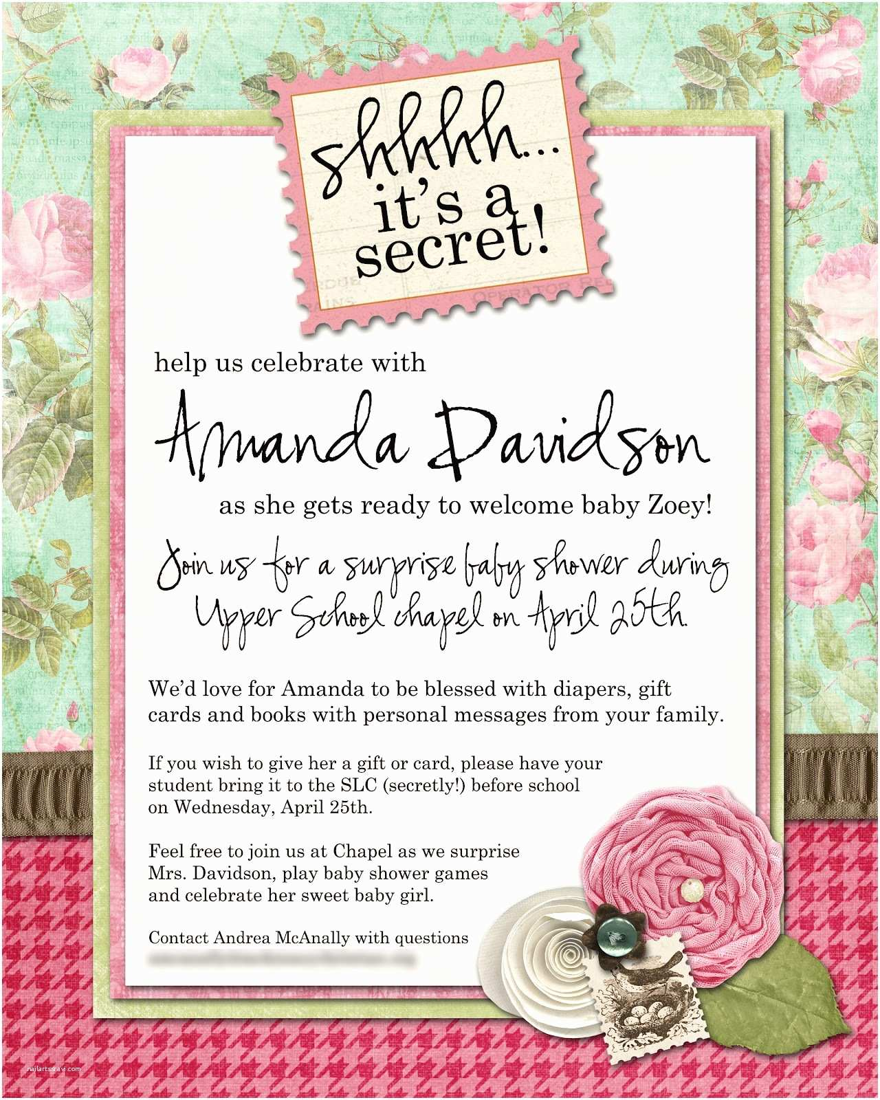 Surprise Baby Shower Invitation Surprise Baby Shower Invitations Wording
