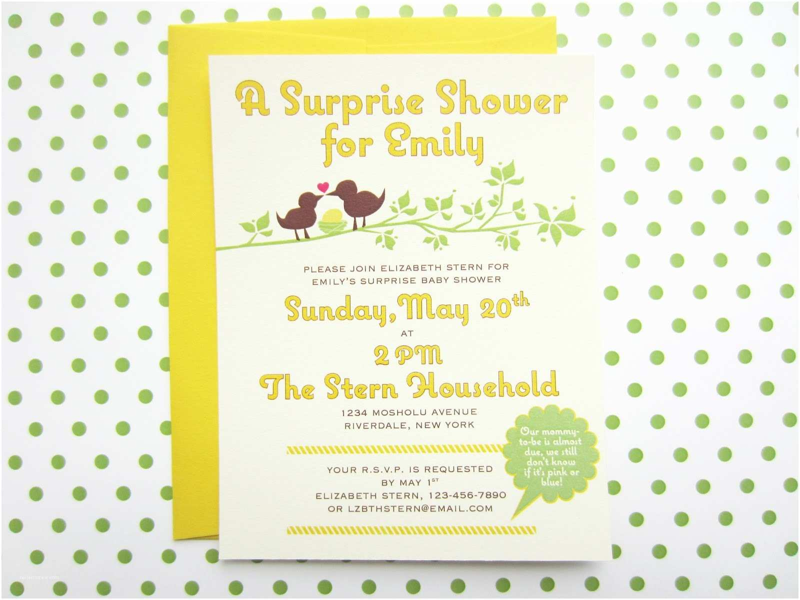 Surprise Baby Shower Invitation Things I Make and Stuff I Like Surprise Baby Shower