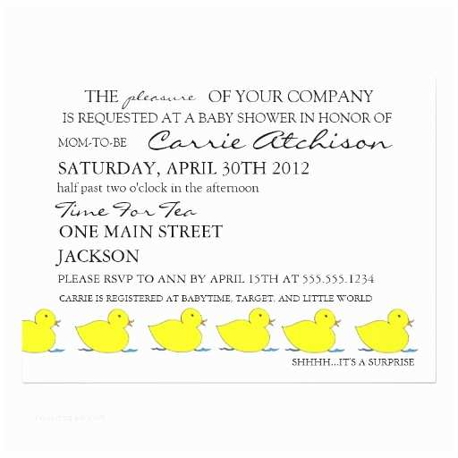 Surprise Baby Shower Invitations Ducks In A Row Surprise Baby Shower Invitation