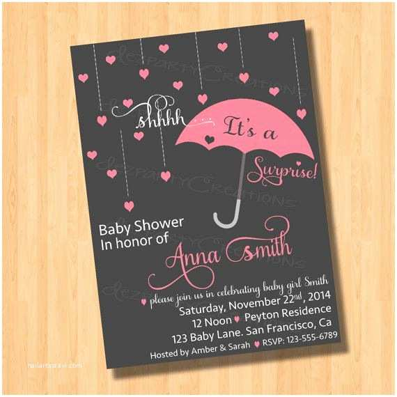 Surprise Baby Shower Invitations Surprise Baby Shower Invitation Digital File by