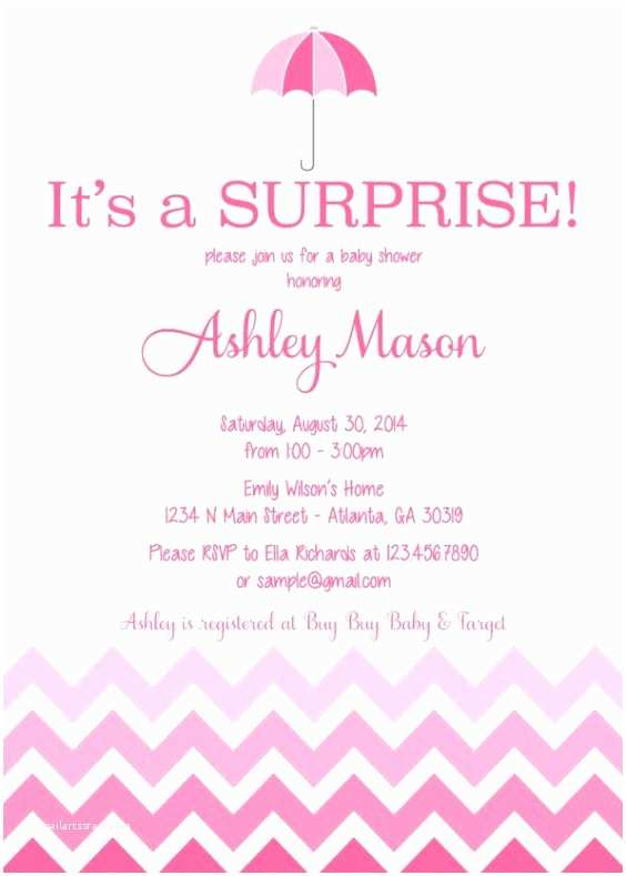 Surprise Baby Shower Invitations Surprise Baby Shower Invitation Wording