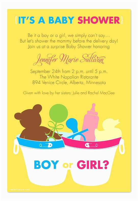 Surprise Baby Shower Invitations Surprise Bucket Baby Shower Invitations by Invitation
