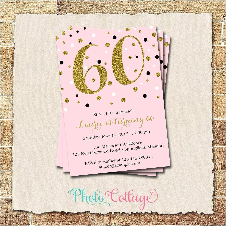 Surprise Birthday Invitations 60th Birthday Party Invitations