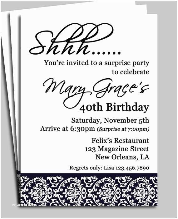 Surprise Birthday Invitations Adult Male Surprise Birthday Invitations