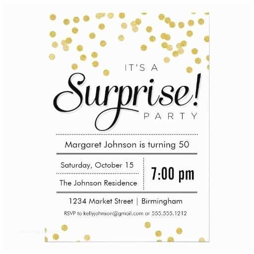 Surprise Birthday Invitations Confetti Surprise Party Invitation