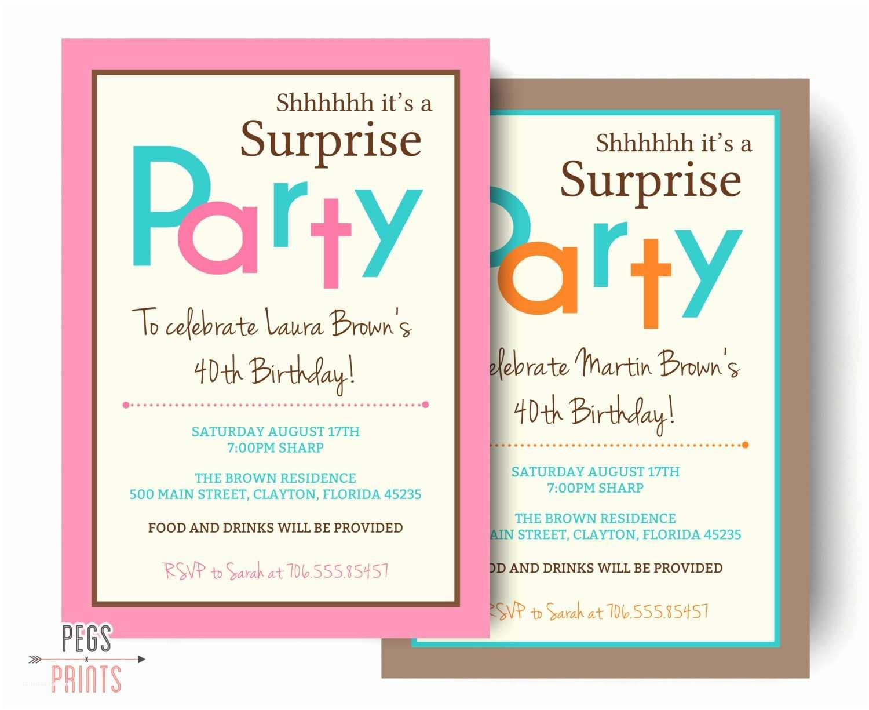 Surprise Birthday Party Invitations Surprise Birthday Invitation Printable Surprise Birthday