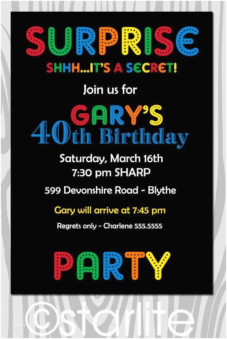 Surprise Birthday Party Invitations Surprise Birthday Invitations