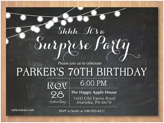 Surprise Party Invitation 10 Best Invitations Images On Pinterest