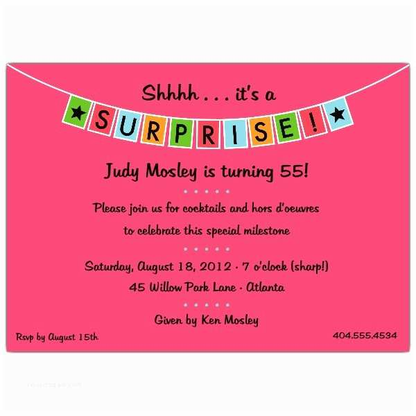 Surprise Party Invitation Banner Blue Surprise Party Invitations