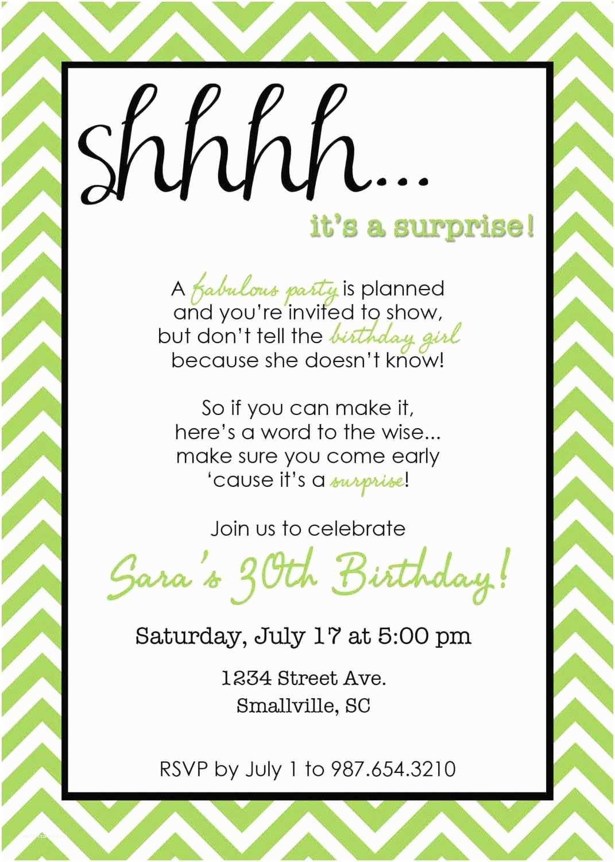 Surprise Party Invitation Chevron Surprise Party Invitation