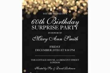 Surprise Party Invitation 60th Birthday Wording