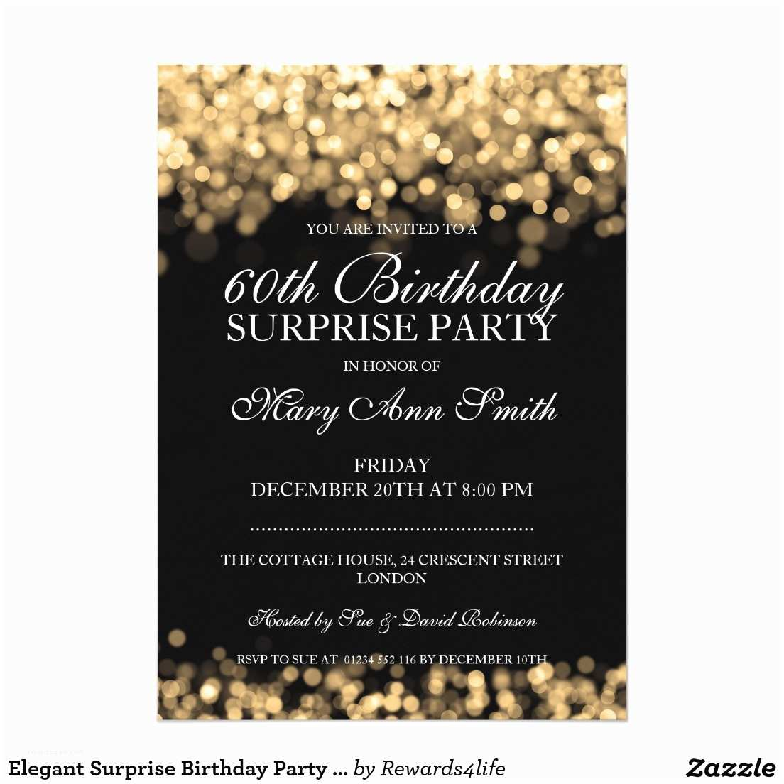 Surprise Party Invitation 60th Birthday Wording