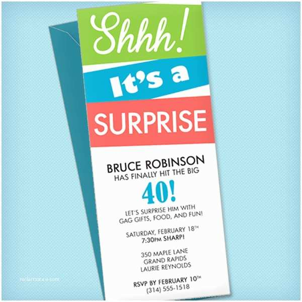 Surprise Party Invitation Surprise Party Invitation Template – Download & Print