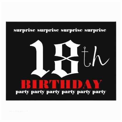 Surprise Party Invitation  18th Surprise Birthday Party Invitation