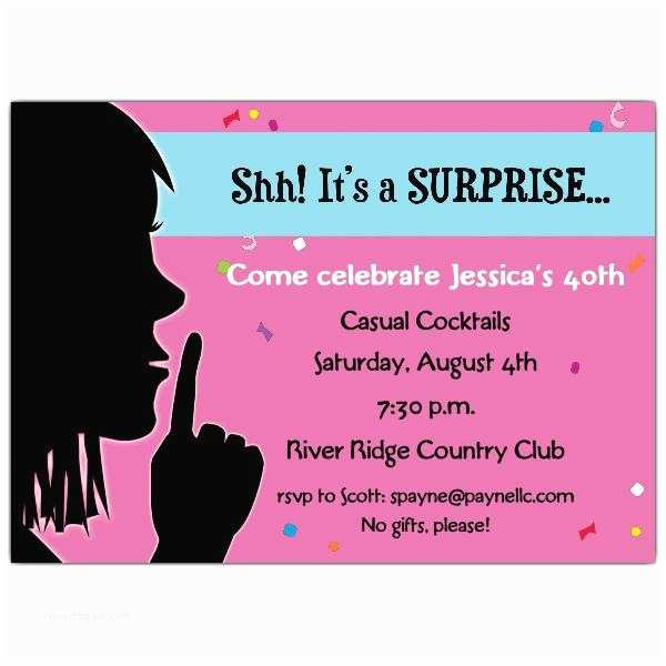 Surprise Party Invitation Template 20 Interesting 30th Birthday Invitations Themes –